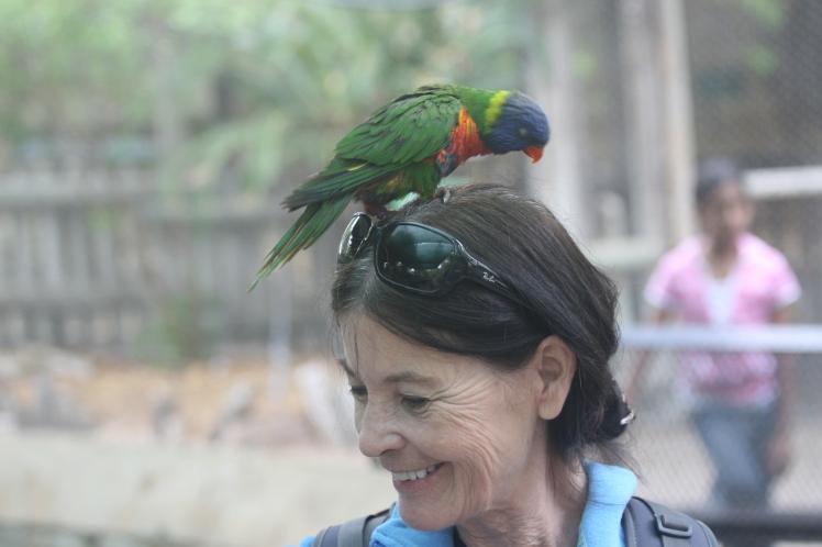 Mom w parrot